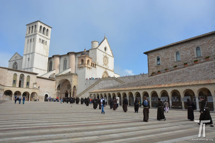 Pilgrims in Assisi