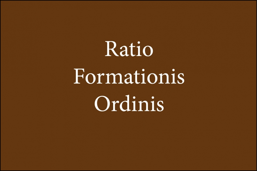 Ratio Formationis - Capítulo III