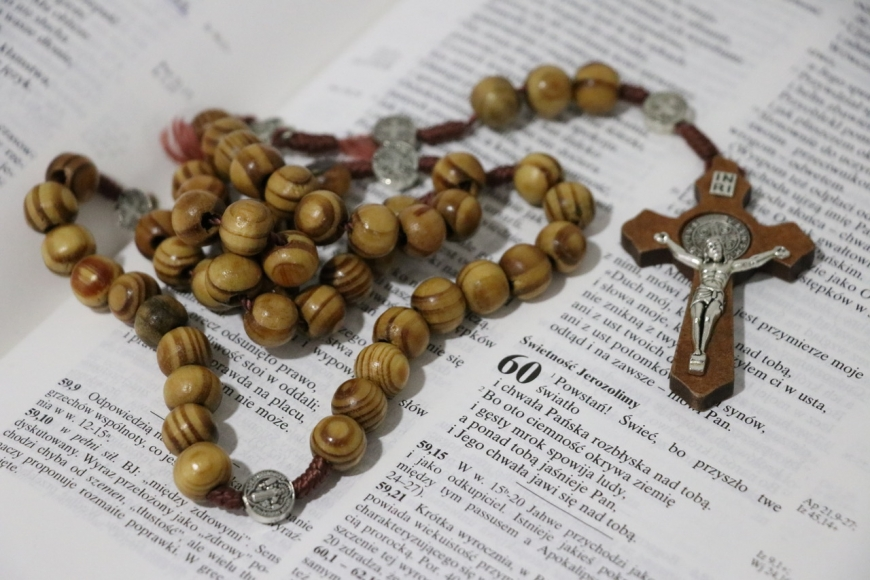 Pope Francis invites the faithful to pray the Rosary in October