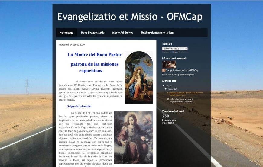 Novo blog do Secretariado das Missões